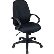 Office Star Fabric Executive Office Chair, Black, Fixed Arm (EX2654-231)