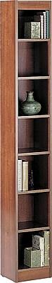 Safco Workspace 12'' 7-Shelf Bookcase, Oak (1514MOC)