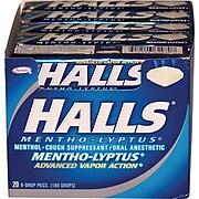 Halls® Mentho-Lyptus Cough Drops, 9 Pieces/Pack, 20 Packs/Box