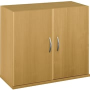 Bush Business Furniture Westfield Half-Height 2 Door Kit, Light Oak, Installed (WC60311FA)