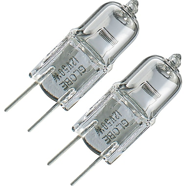 Globe T4 Halogen Light Bulb, 35W, 12V, 2/Pack