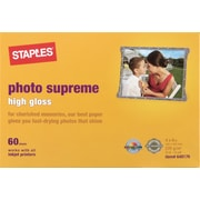 "Staples Photo Supreme 4"" x 6"" Gloss Paper, 60/Pack (19897-CC)"