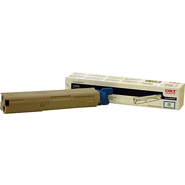 Okidata 43459303 Cyan Toner Cartridge, High Yield