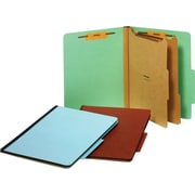 Staples® Pressboard Classification Folders, 2 Dividers, Letter Size, 20/Box