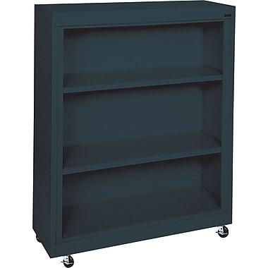 Sandusky 3-Shelf Mobile Bookcase, Charcoal