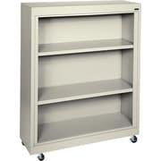 Sandusky 3-Shelf Mobile Bookcase, Putty
