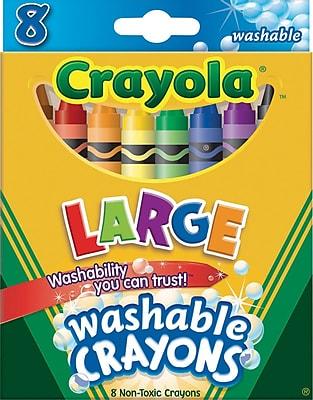 Crayola® Specialty Crayons, Large Size, Washable, 8/Box