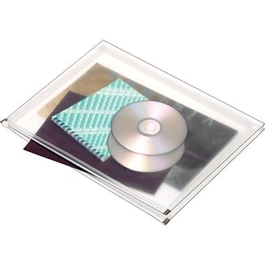 Enveloppes à fermeture à glissière latérale, format lettre, 5/paquet