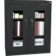"Sandusky Clear View Counter Storage Cabinet, 42""H x 36""W x 18""D, Black"