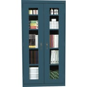 "Sandusky Clear View Tall Storage Cabinet, 72""H x 36""W x 18""D, Charcoal"