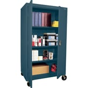 "Sandusky 60"" Transport Mobile Steelstorage Cabinet with 4 Shelves, Charcoal (TA3R462460-02)"