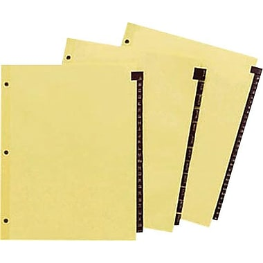 Staples® Red Leather Tab Dividers