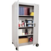 "Sandusky 60"" Transport Mobile Steelstorage Cabinet with 4 Shelves, Gray (TA3R462460-05)"