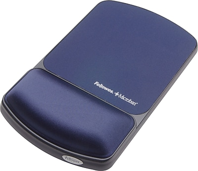 Fellowes® Gel Wristrest/Mousepad with Microban® Protection, Sapphire