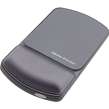 Fellowes Microban® Wrist Rest and Mouse Pad, Graphite/Black