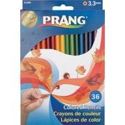Prang® (Dixon Ticonderoga®) Colored Pencils, 3.3mm, Sharpened, Assorted Colors, 36/Set
