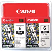 Canon® BCI-6 Black Ink Tanks, Multi-pack (2 cart per pack)