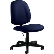 Global Fabric Computer and Desk Office Chair, Armless, Blue (9326BK-JN01)