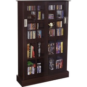 Atlantic® Windowpanes Media Storage Cabinet with Sliding Glass Door, Espresso