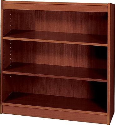 Safco Workspace 36'' 3-Shelf Bookcase, Mahogany (1502MHC)
