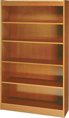 Safco Workspace 36'' 5-Shelf Bookcase, Oak (1504MOC)