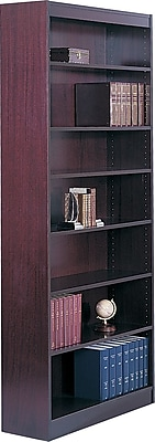 Safco Workspace 36'' 7-Shelf Bookcase, Mahogany (1506MHC)