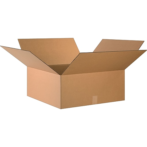 """24"""" x 24"""" x 10"""" Shipping Boxes, 32 ECT, Brown, 20/Bundle (BS242410)"""