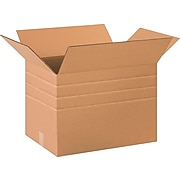 """20"""" x 14"""" x 14"""" Multi-Depth Shipping Boxes, 32 ECT, Brown, 20/Bundle (BS201414MD)"""