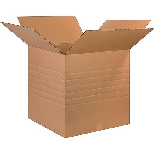 "26"" x 26"" x 26"" Multi-Depth Shipping Boxes, 44 ECT, Brown, 15/Bundle (BS262626MDHD)"