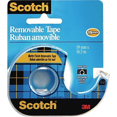 Scotch™ Removable Tape with Dispenser, 19mm x 16.5m