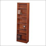 "SAFCO Workspace Veneer Baby 24"" Wide Bookcase, Mahogany,  7-Shelf"