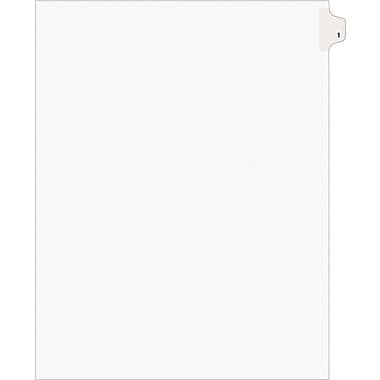 Avery® Tab 10 Numerical Individual Set White (11920)