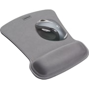 Staples Mouse Pad with Gel Wrist Rest, Silver