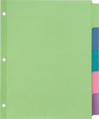 Staples Tab Writable Dividers, Multicolor, Large, 5 Tab Set (13512/23180)