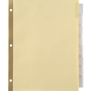 Staples Insertable Big Tab Dividers with Buff Paper, Clear, 8 Tabs/Set (18934/13488)