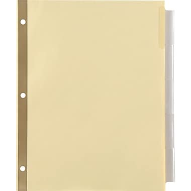 Staples Insertable Big Tab Dividers with Buff Paper, Clear, 5-Tab (13486/20601)