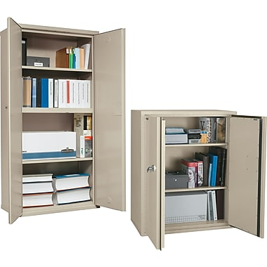 FireKing 1 Hour 3- and 4-Shelf Fire Resistant Storage Cabinets, Parchment