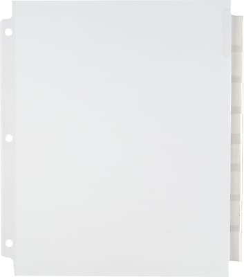 Staples Extra Wide Tab Dividers, Clear, 8-Tab (13495/11223)