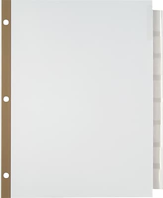 Staples® Insertable Big Tab Dividers with White Paper, Clear, 8-Tab