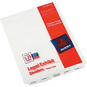 Avery® Premium Collated Legal Exhibit Divider Sets - Avery® Style, Letter Size, Exhibit 1-Exhibit 25 & Table of Contents, 1/St