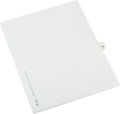 Avery® Numerical Individual Legal Divider 11 Tab Paper Stock, White, 8 1/2