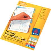 """Avery® 1-3/4"""" Assorted Color Printable Self-Adhesive Tabs"""