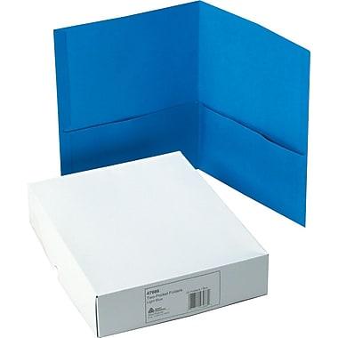 Avery(R) Two-Pocket Folders 47986, Light Blue, Box of 25