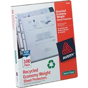 Avery(R) Economy Semi-Clear Sheet Protectors 75537, Acid Free, Box of 100