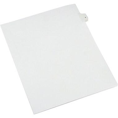 Allstate® Tab 5 Numerical Individual Set White (82203)
