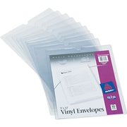 "Avery(R) Clear Vinyl Envelopes 74804, 9"" x 12"", Pack of 10"