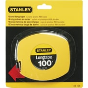 "Stanley Bostitch Tape Measure, 100' Long, Yellow, 3/4""H x 5 7/8""W x 6 7/8""D"