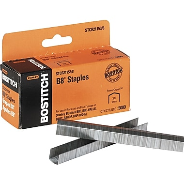 Stanley Bostitch B8® PowerCrown™ Premium Staples, 3/8in.