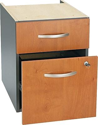 Bush Business Furniture Westfield 2 Drawer 3/4 Pedestal, Natural Cherry, Installed (WC72490SUFA)