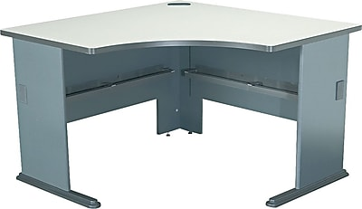 Bush Business Cubix 48W Corner Desk, Pewter/White Spectrum